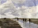 Moor, Wasser, Ostfriesland, Wolken