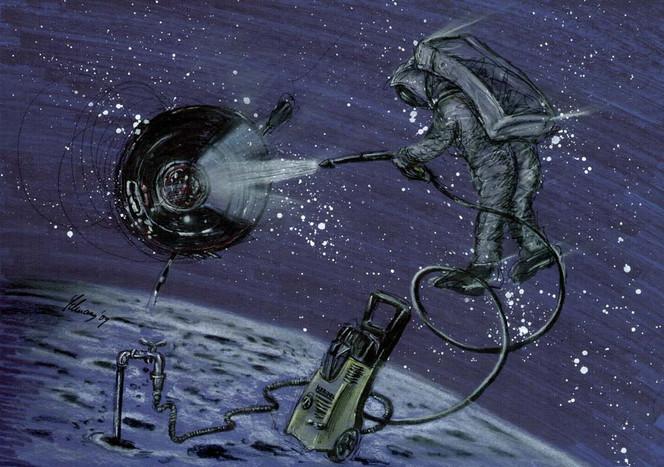 Cartoon, Forschung, Kerchel, Universum, Hochdruck, Mond