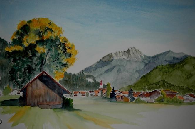 Tirol, Ausserfern, Landschaft, Natur, Malerei, Herbst