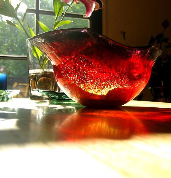 Schale, Feuer, Sonnenlicht, Kunsthandwerk, Glas