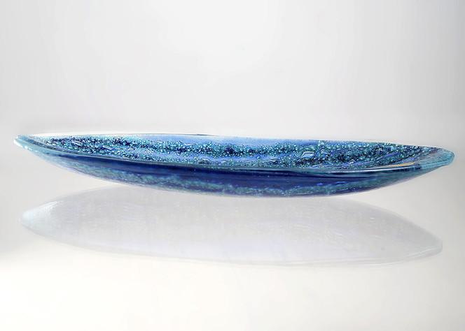 Glas, Plastik, Fusing, Schale, Glasschale, Blau