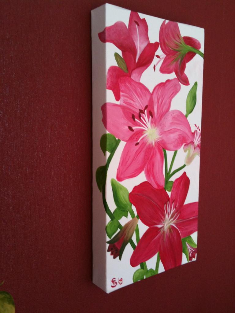 bild blume lilie rosa rot von evelyn sch ller bei kunstnet. Black Bedroom Furniture Sets. Home Design Ideas