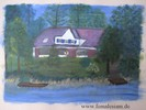 Malerei, See, Haus
