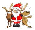 Weihnachtsmann - comic liebe rentiere weihnachten weihnachtsmann zuneigung