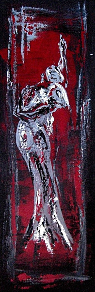 Grau, Rot schwarz, Tanz, Weiß, Malerei, Figural