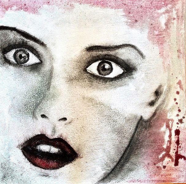 Blick, Unfertiges werk, Frau, Augen, Malerei