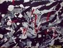Abstrakt, Action painting, Acrylmalerei, Weiß