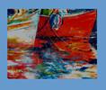 Hafen, Boot, Malerei, Warten
