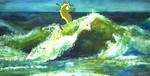 Wellenreiten, Malerei