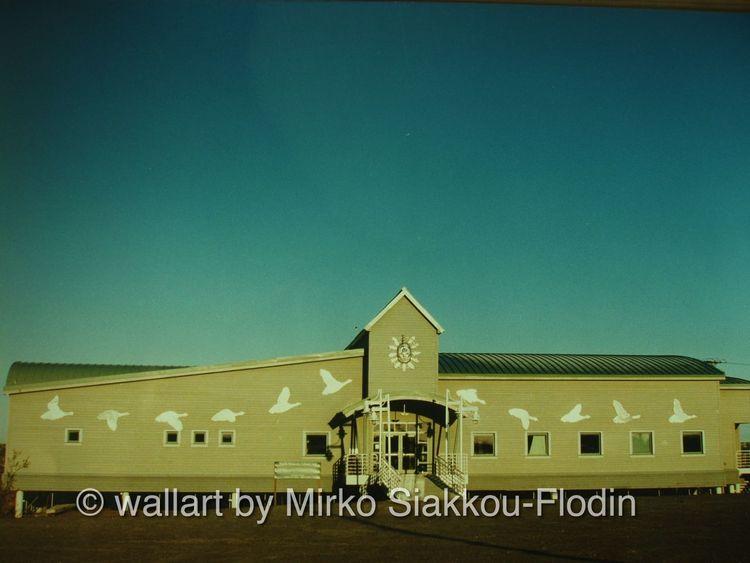 Bethel kulturzentrum, Wall art, Ausführung, Yupik art, Flodin, Siakkou