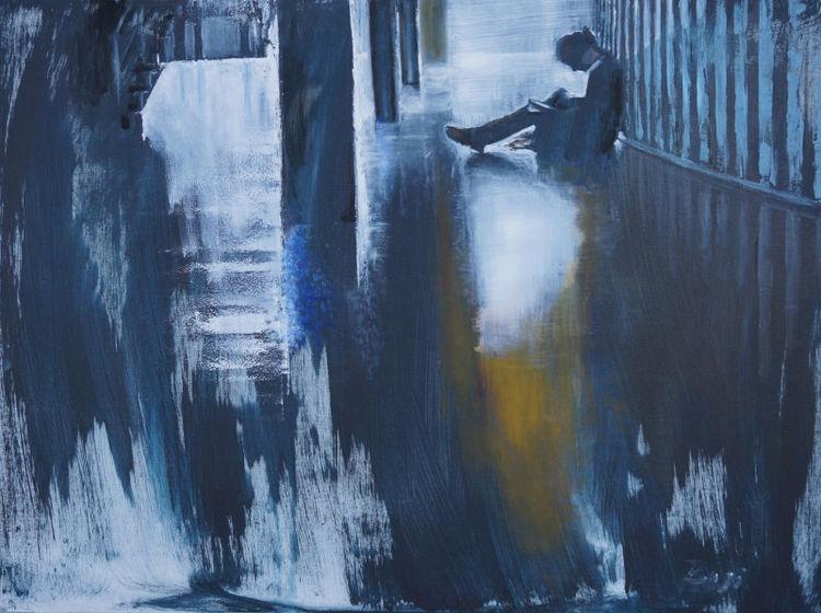 Frau, Raum, Licht, Figural, Malerei