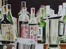 Flasche, Malerei, Stillleben
