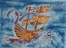 Malerei, Aquarellmalerei, Grafik, Arche