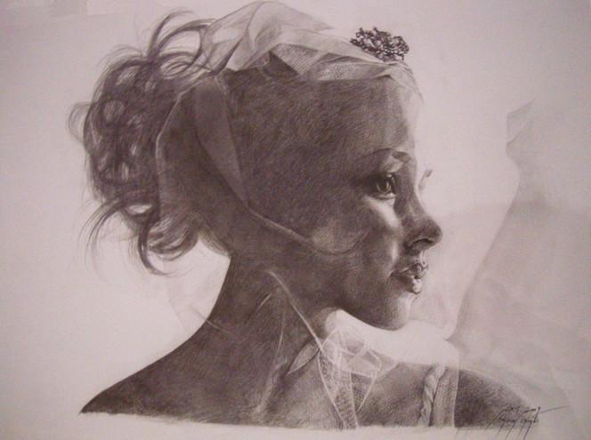 Gesicht, Licht, Frau, Zeichnungen, Portrait, Moment