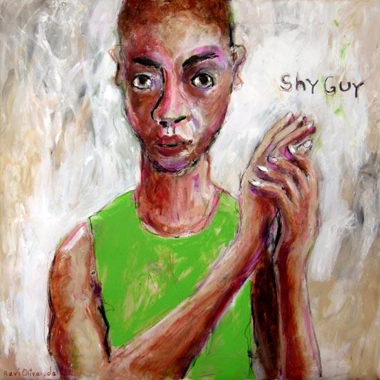 Schüchtern, Malerei