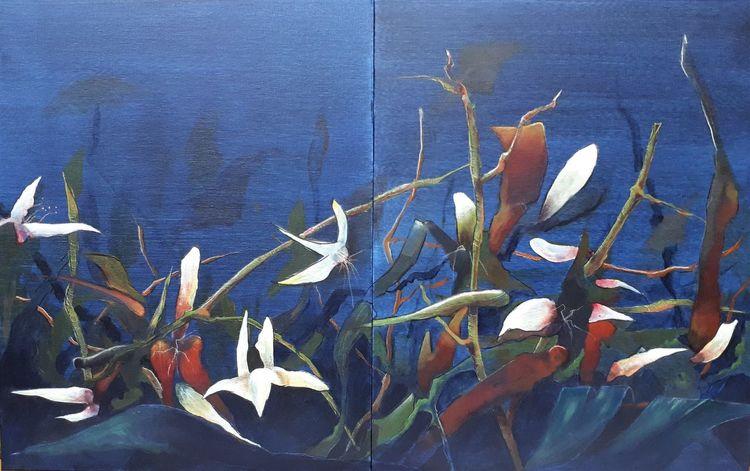Dickicht, Urwald, Pflanzen, Malerei