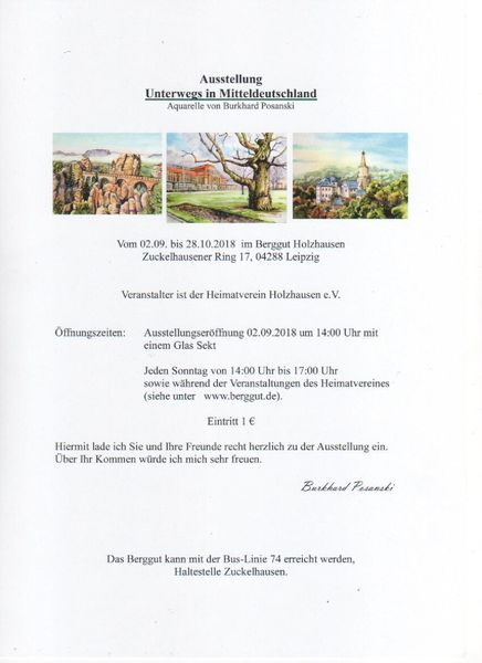 Ausstellung, Holzhausen, Leipzig, Pinnwand, Einladung