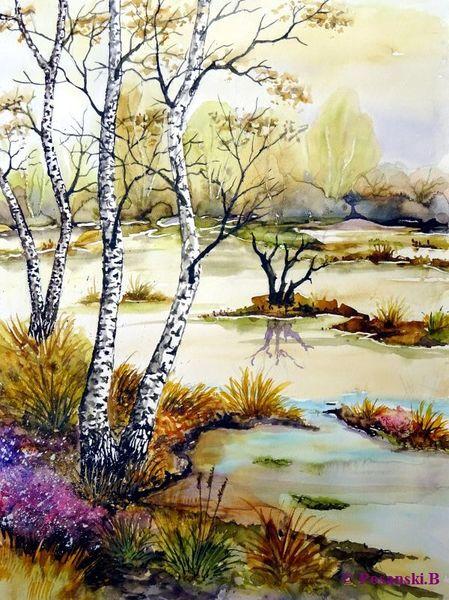 Moor, Aquarell