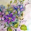 Rankenpflanze, Blüte, Aquarell, Aquarelle blumen