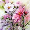 Blumen, Blumenaqarell, Aquarell, Aquarelle blumen