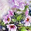 Blumen, Garten, Aquarell, Aquarelle blumen