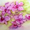 Blumen, Orchidee, Aquarell