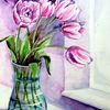 Blumen, Tulpen, Aquarell