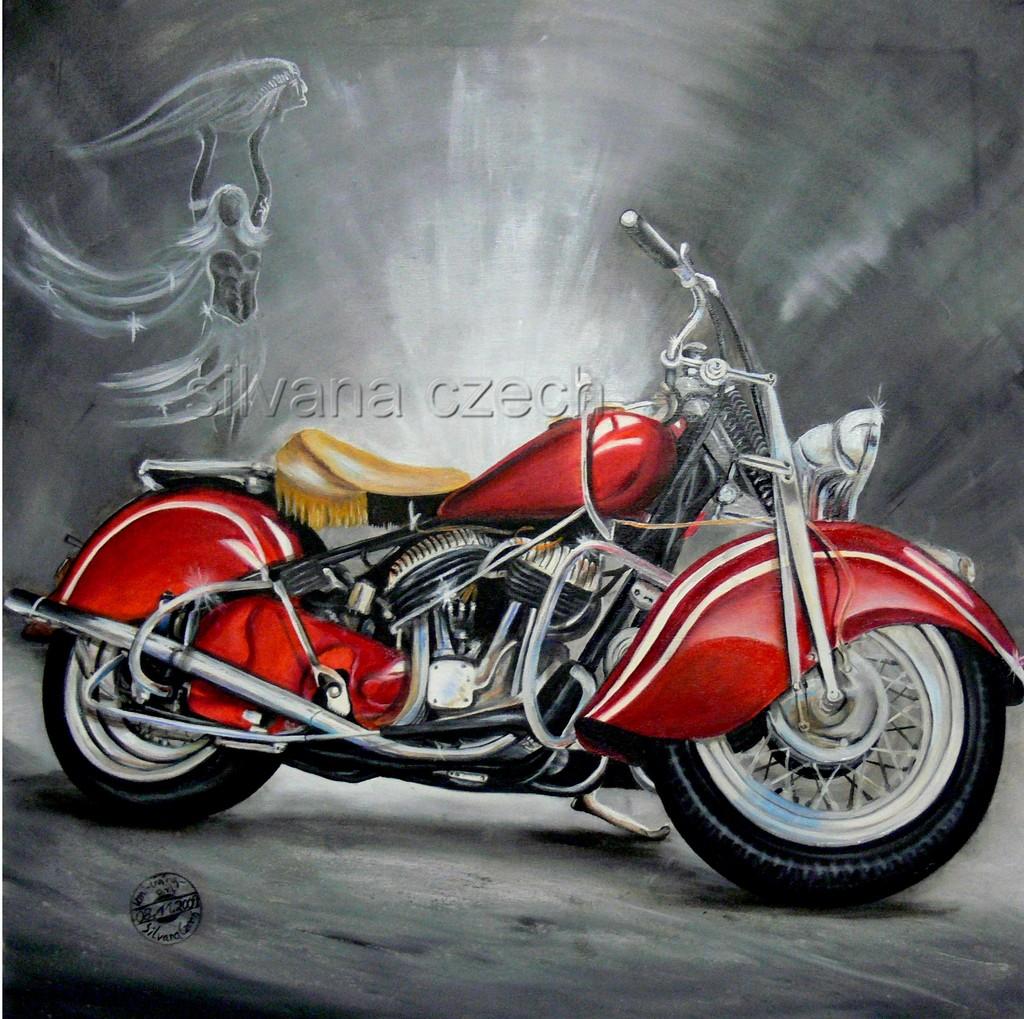 Motorrad - 236 Bilder und Ideen auf KunstNet | Fahrzeug, Malerei und ...