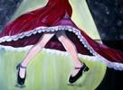 Frau, Kleid, Scheinwerferlicht, Tanz