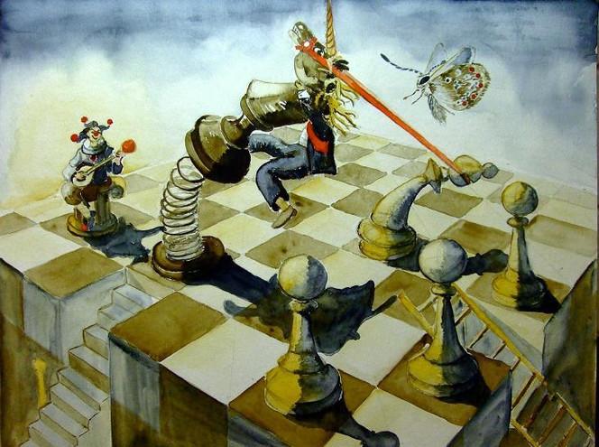 Schmetterling, Harlekin, Chaos, Leben, König, Schach