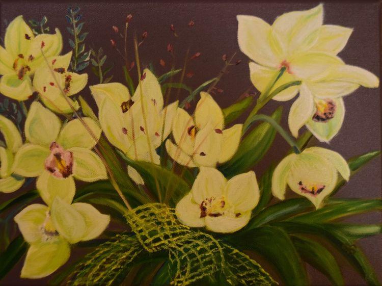 Orchidee, Gelb, Blätter, Natur, Grün, Frühling