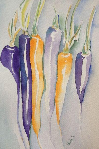 Stillleben, Pflanzen, Aquarellmalerei, Aquarell