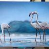 Flamingo, Sprühdose, Airbrush, Mischtechnik