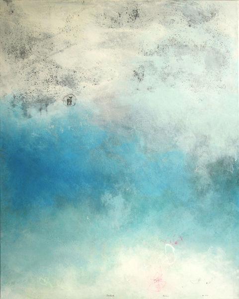 Traum, Abstrakt, Blau, Tiefenrausch, Malerei