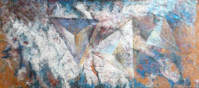 Pyramide, Ufomiden, Faserplatte, Spachteltechnik, Abstrakt, Sehnsucht