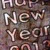 Neujahr, Textur, Wünsch, Metall