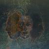 Blau, Kopf, Selfie, Portrait