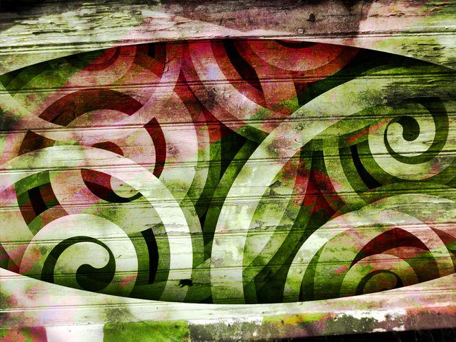 Schnecke, Surreal, Abstrakt, Outline, Design, Wooden board