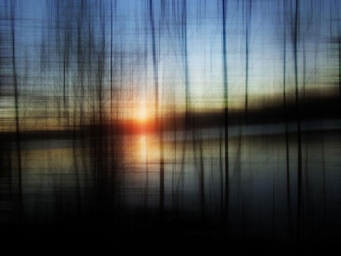 Wasser, Sonnenuntergang, See, Fotografie, Romanze, Blau