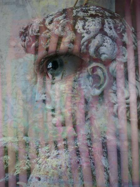 Graffiti, Observing, Stein, Traum, Profil, Textur