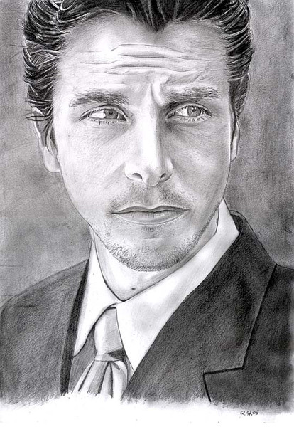 Bleistiftzeichnung, Portrait, Mann, Menschen, Schwarz, Zeichnungen