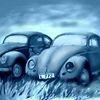 Auto, Wrack, Vw käfer, Malerei