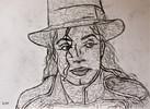 Portrait, Michael jackson, Kohlezeichnung, Gesicht