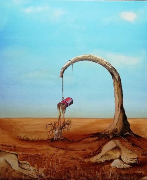Wüste, Ocker, Schwarz, Stein, Seil, Feuer