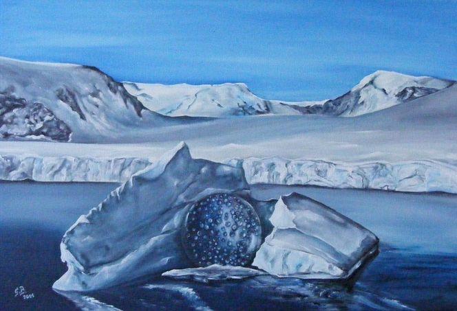 Kalt, Landschaft, Kugel, Blau, Winterlandschaft, Eisberg