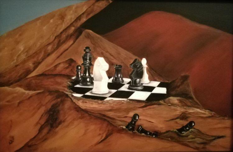 Weiß, Schach, Berge, Figur, Braun, Schwarz