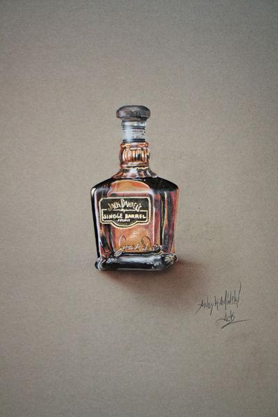 Jack daniels, Zeichen, Bleistiftzeichnung, Frankfurt, Marker, Zeichnung