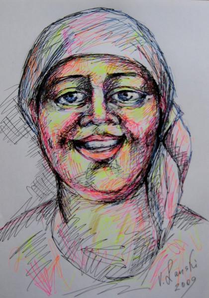 Zeichnungen, Portrait, Braut