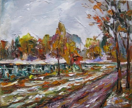 Malerei, Schnee