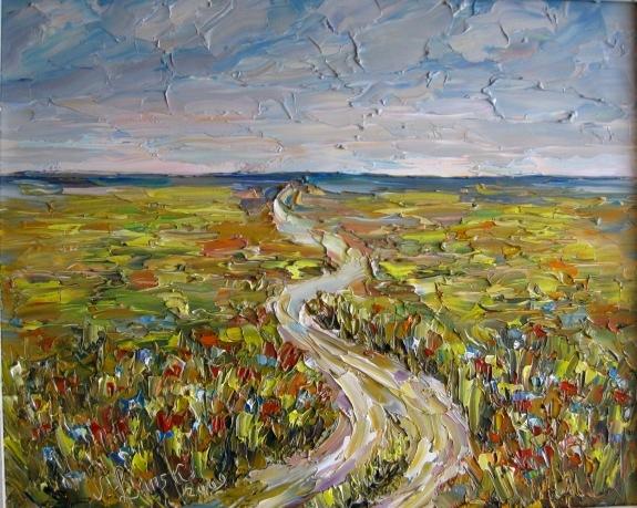 Malerei, Feldweg